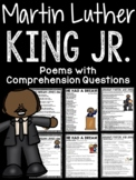 Martin Luther King Jr. Poems Worksheet with Comprehension Questions
