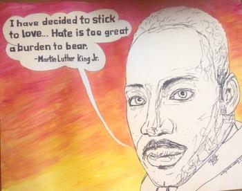 Martin Luther King Jr Poster & Art Color Sheet