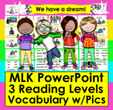 Martin Luther King, Jr. PowerPoint Presentation-3 Reading Levels/Vocab.Slides