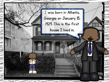 Martin Luther King Jr PowerPoint and Writing Wall Set