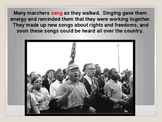 Martin Luther King Jr. Powerpoint with pictures from museum in Atlanta