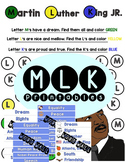 Martin Luther King Jr. | Preschool Printable | Dot Art | Word Wall | Cut Paste +