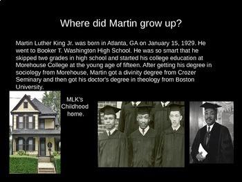 Martin Luther King Jr. Presentation
