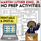 Martin Luther King, Jr. Activities and MLK Activities DIGITAL and PRINTABLE