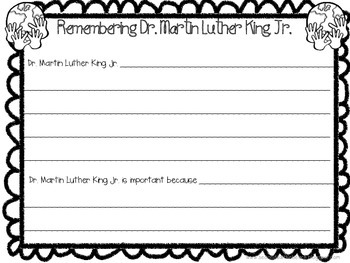 Martin Luther King Jr. Printables and Craftivity