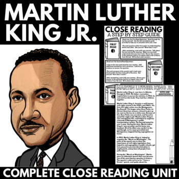 Martin Luther King Jr. Unit Information and Guided Research Poster Project