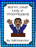 Martin Luther King, Jr. Writing Proofreading Worksheets