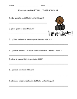 Martin Luther King Jr. Quiz in Spanish