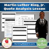 Martin Luther King, Jr. Quote Analysis (Bilingual)