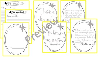 Martin Luther King Jr. Quote Art and Writing Activity! (Spanish & English)
