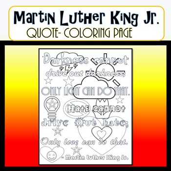 Martin Luther King Jr. Quote COLORING PAGE