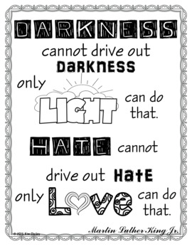 Martin Luther King Jr. Quote Light and Love