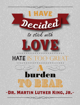Martin Luther King Jr Quote Poster
