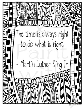 Inspiring words printable posters quote by Martin Luther ...