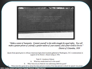 Martin Luther King Jr. Quotes Analysis Task Card Activity Set MLK Day