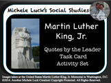 Martin Luther King Jr. Quotes Analysis Task Card Activity