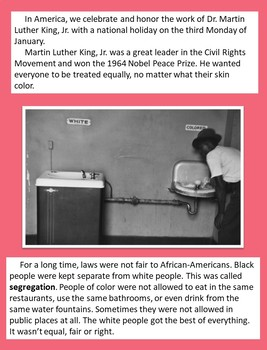 Martin Luther King, Jr. Close Reading and Writing Activity-Full Preview
