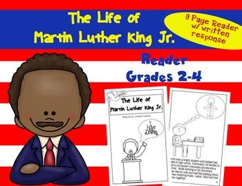 Martin Luther King Jr. Reader- Reproducible Book Grades 2-4