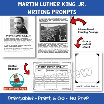 Martin Luther King, Jr. | Reader Response | Writing Prompts | History