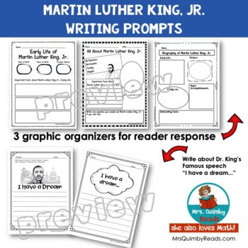 Martin Luther King, Jr.   Reader Response   Writing Prompts   History