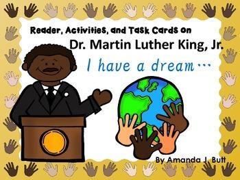 Martin Luther King, Jr. Reader, Task Cards; Black History; Second, Third, Grades