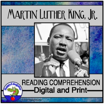 Martin Luther King Jr. Reading Comprehension Passages and Questions