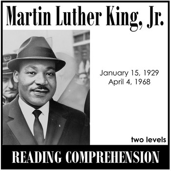 Martin Luther King Jr. Reading Comprehension