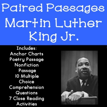 Martin Luther King Jr. Reading Comprehension Paired Passages