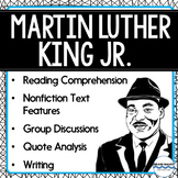 Martin Luther King - Reading Comprehension, Activities, Nonfiction MLK Passage