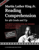 Martin Luther King Jr. Reading Comprehension for 5th Grade and up