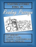 Martin Luther King Jr. Reading, Vocabulary, Context Clues,