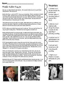 Martin Luther King, Jr. Reading and Writing Lesson
