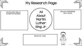 Martin Luther King, Jr. Research Freebie