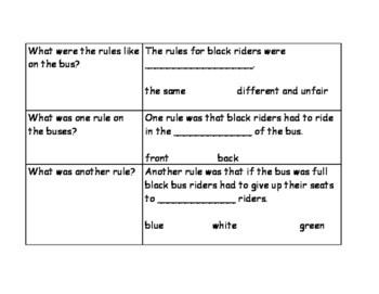 Martin Luther King Jr. Research Graphic Organizer