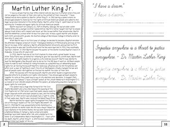 FREE Martin Luther King, Jr. Research Journal