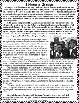 Martin Luther King Jr. Worksheet Activities
