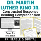 Martin Luther King Jr. Biography & Constructed Response Questions {freebie!} MLK