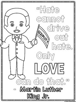 Martin Luther King Jr. & Rosa Parks Coloring Page FREEBIE
