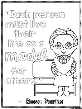 rosa parks coloring book pages - photo#11