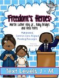 Martin Luther King Jr., Ruby Bridges & Rosa Parks: Leveled Reading Passages, J-M