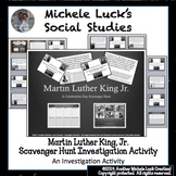 Martin Luther King Jr. Scavenger Hunt Task Card or Walking
