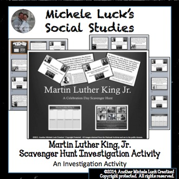 Martin Luther King Jr. Scavenger Hunt Task Card or Walking