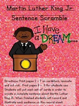 Martin Luther King Jr Sentence Scramble