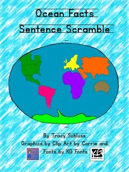 Ocean Facts Sentence Scramble
