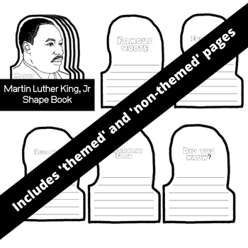 Martin Luther King Jr Shape Book