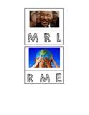 Martin Luther King, Jr. Sight Word Beginning Sound Match