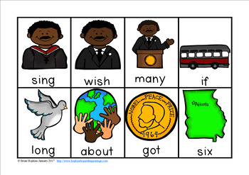Martin Luther King, Jr. Sight Word Race