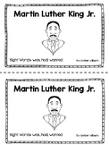 Martin Luther King Jr Sight Word Reader