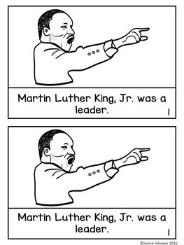 Martin Luther King, Jr Simple Reader & Timeline for Young Learners
