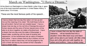 Martin Luther King Jr. Smartboard Smart Notebook Presentation